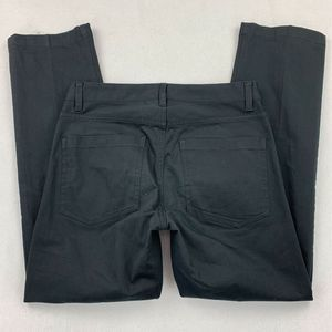 Theory Men Straight Pants Black Flat Front 28 x 28